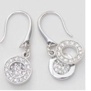 Swarovski Touchstone Crystal circle duo earrings